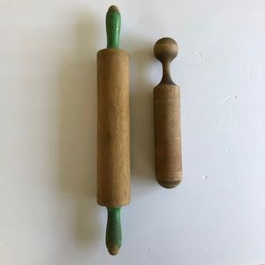 Vintage Set - Wooden Rolling Pin and Pestle/Masher
